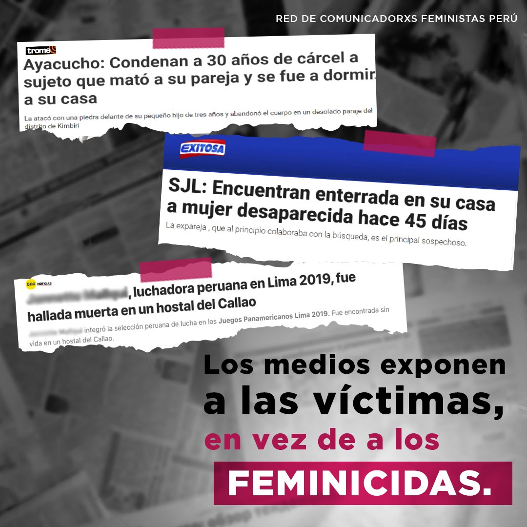 Los medios exponen a las víctimas en vez de a los feminicidas